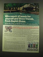 1975 Palmolive Rapid-Shave Ad - Win a Week of Tennis