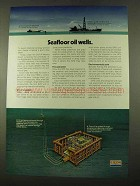 1975 Exxon Oil Ad - Seafloor Oil Wells