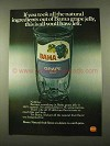 1975 Borden Bama Grape Jelly Ad - Natural Ingredients