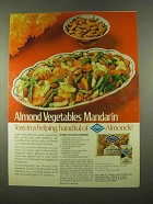 1975 Blue Diamond Almonds Ad - Vegetables Mandarin