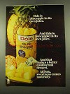 1975 Dole Chunk Pineapple Ad - In Its Own Juice