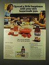 1975 Certo and Sure-Jell Pectin Ad - Spread Happiness