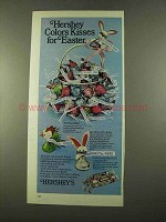 1975 Hershey's Kisses Ad - Color Kisses for Easter