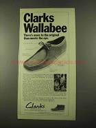 1975 Clarks Wallabee Shoe Ad - More Than Meets the Eye