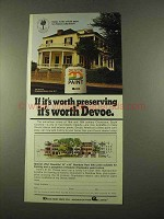 1975 Devoe Paint Ad - If It's Worth Preserving