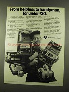 1975 Rockwell Tool Toters Ad - Drill, Jigsaw, Saw