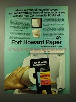 1975 Fort Howard Paper Commander I Cabinet Ad