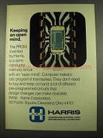 1975 Harris PROM Programmable Read-Only Memory Ad