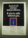 1975 AGA American Gas Association Ad - Independence
