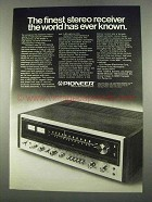 1975 Pioneer SX-1010 Stereo Receiver Ad - The Finest