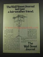 1975 The Wall Street Journal Ad - Fair-Weather Friend