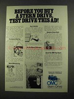 1975 OMC Stern Drive Ad - Before You Buy