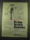 1975 Occidental Life Insurance Ad - It's Time for Term