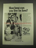 1975 U.S. Savings Bonds Ad - Live on Love?