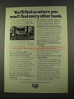 1975 Citizens and Southern Banks in Georgia Ad