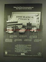 1975 INA Insurance Company of North America Ad - Cash Flow