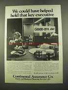 1975 Continental Assurance Ad - Key Executive