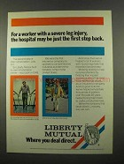 1975 Liberty Mutual Insurance Ad - Severe Leg Injury