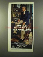 1975 Dry Sack Sherry Ad - Frank Gifford
