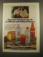 1975 Gilbey's Gin Vodka Holland House Cocktail Mixes Ad