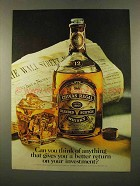 1975 Chivas Regal Scotch Ad - Return on Your Investment