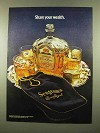 1975 Seagram's Crown Royal Whisky Ad - Share Wealth