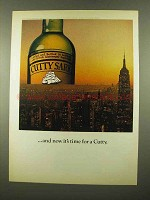 1975 Cutty Sark Scotch Ad - And Now It's Time For