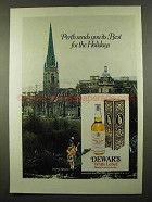 1975 Dewar's White Label Scotch Ad - Perth Sends Best