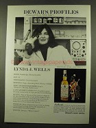 1975 Dewar's White Label Scotch Ad - Lynda J. Wells