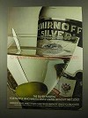 1975 Smirnoff Silver Vodka Ad - The Silver Martini