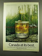1975 Canadian Mist Whisky Advertisement - At Its Best
