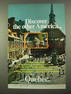 1975 Quebec Canada Ad - Discover the Other America
