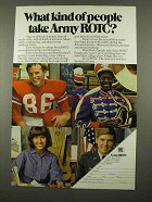 1975 Army ROTC Ad - What Kind of People Take