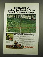 1975 Gravely Lawn Mowers Ad - Best of The Worst Lawn