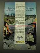 1975 Caterpillar Tractor Co. Ad - Fixing Roads