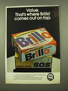 1975 Purex Brillo Soap Pads Ad - Comes Out on Top