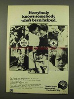 1975 The United Way Ad - Somebody Been Helped