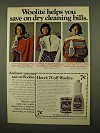 1975 Woolite Cold Water Wash Ad - Helps you Save