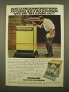 1975 KitchenAid Dishwasher Ad - 30 Pounds Less