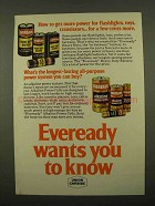 1975 Eveready Batteries Ad - Get More Power