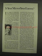 1975 Oil of Olay Lotion Ad - Is Your Mirror Enemy