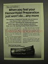 1975 Vaseline Hemorr-Aid Ad - When You Feel