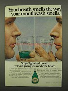 1975 Scope Mouthwash Ad - Your Breath Smells