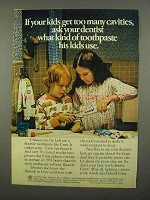 1975 Crest Toothpaste Ad - Ask Your Dentist His Kids