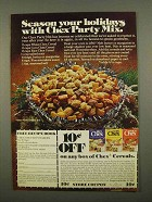 1975 Ralston Chex Cereal Ad - Chex Party Mix