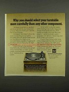 1975 Dual 1229Q Turntable Ad - Select More Carefully