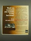 1975 Dual 1249 Turntable Ad - Would You Recommend