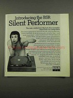 1975 BSR Model 20 BPX Turntable Advertisement - Silent Performer