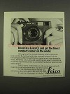 1975 Leica CL Camera Ad - Finest Compact in World