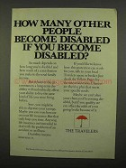 1975 The Travelers Insurance Ad - Become Disabled